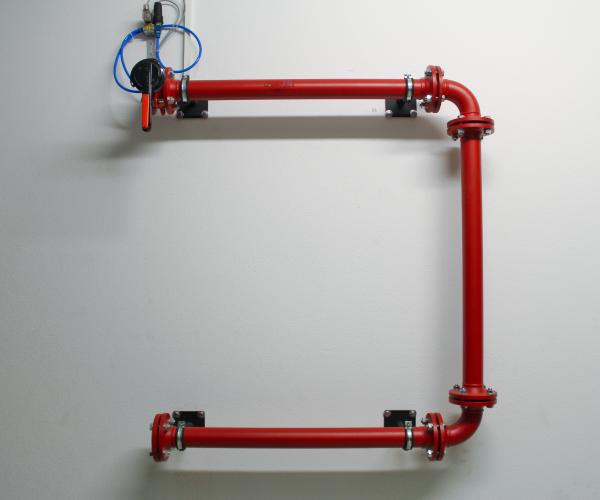 Rohrsystem mit Absperreinrichtung
