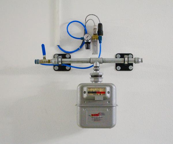 Gaszähler mit Absperreinrichtung