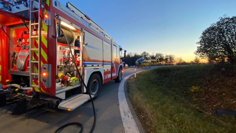 07.11.2020 – Verkehrsunfall Person eingeklemmt